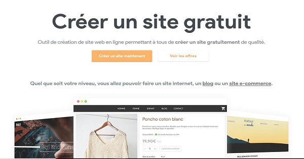 Avis E-Monsite - Accueil