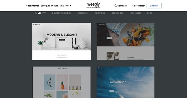 Avis Weebly - Templates