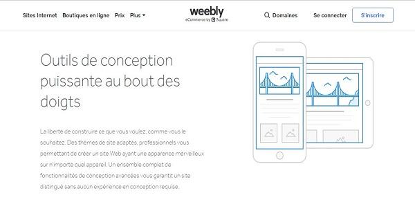 Avis Weebly - fonctionnalités