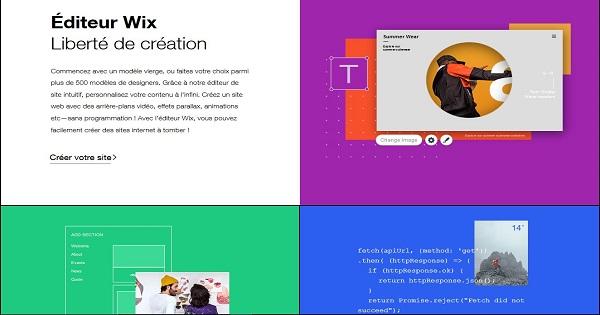 Avis Wix - Outils de création de site