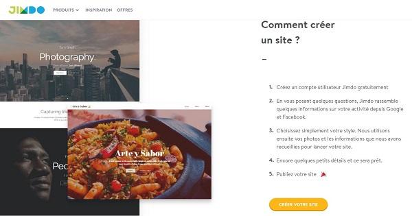 Avis général Jimdo - Comment créer un site