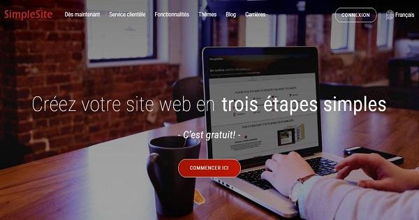 meilleurs éditeurs de site web gratuit-2019-Simplesite