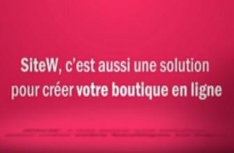 Solution e-commerce chez SiteW : qu'est-ce qui est proposé par l'éditeur ?